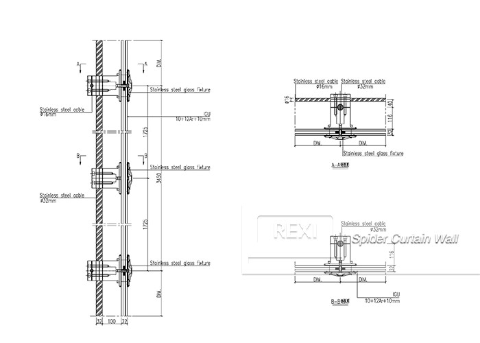 Point-fixing (Spider) Curtain Wall-Curtain Wall-REXI